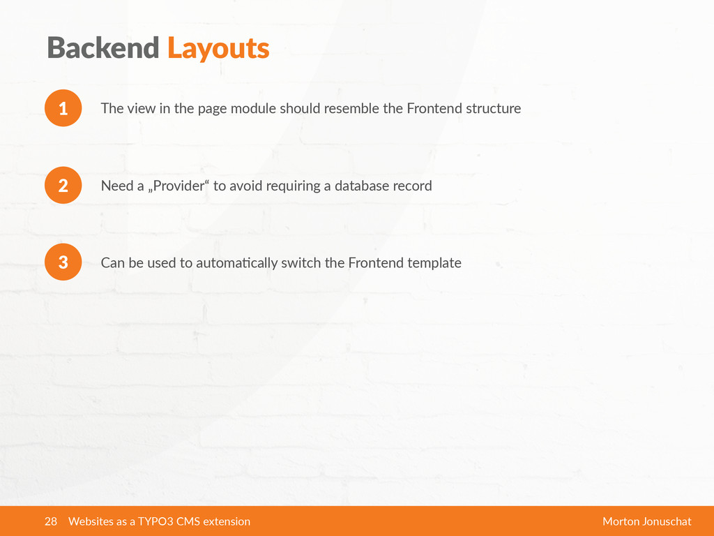 Backend  Layouts The  view  in  the  page  modu...
