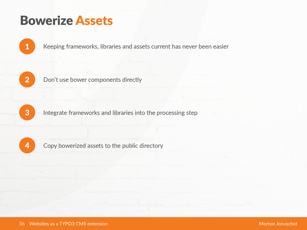 Bowerize  Assets Keeping  frameworks,  librarie...