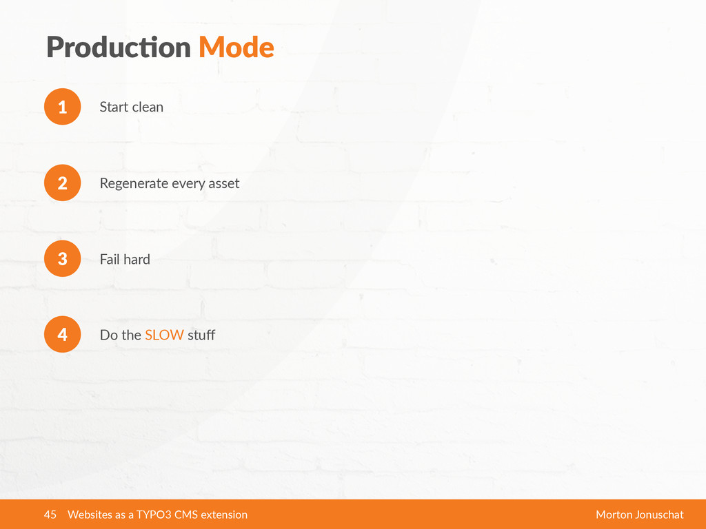 ProducXon Mode Start clean 1 Do the SLOW s...