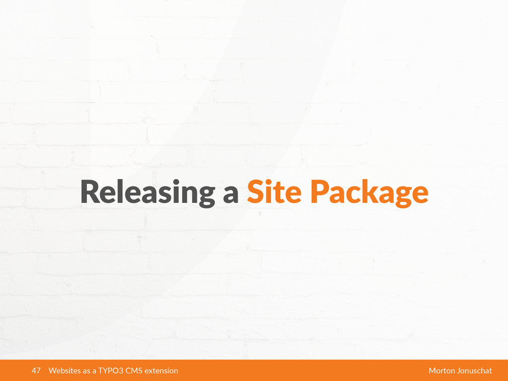 Websites as a TYPO3 CMS extension Morton ...