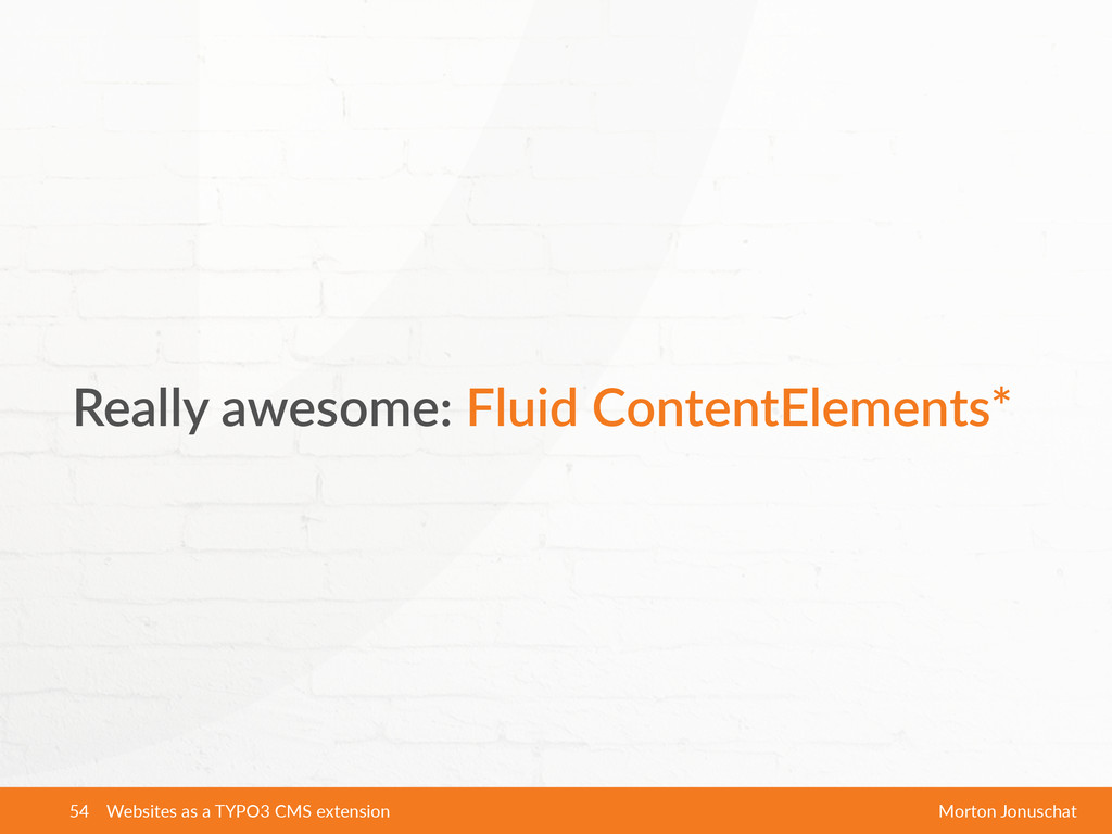 Really  awesome:  Fluid  ContentElements* Websi...