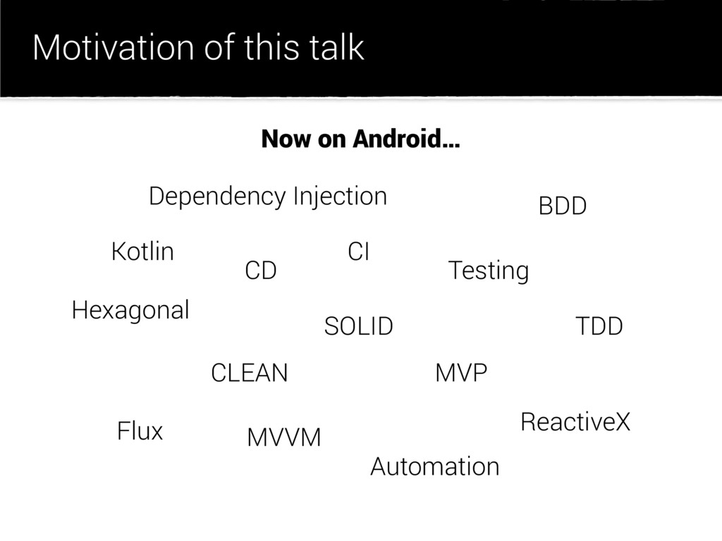 Motivation of this talk CLEAN SOLID ReactiveX M...