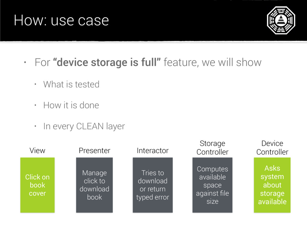"""How: use case • For """"device storage is full"""" fe..."""