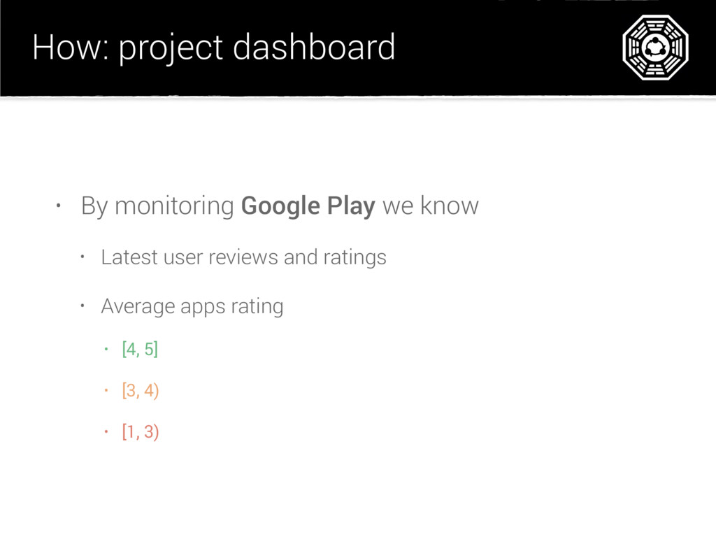 How: project dashboard • By monitoring Google P...