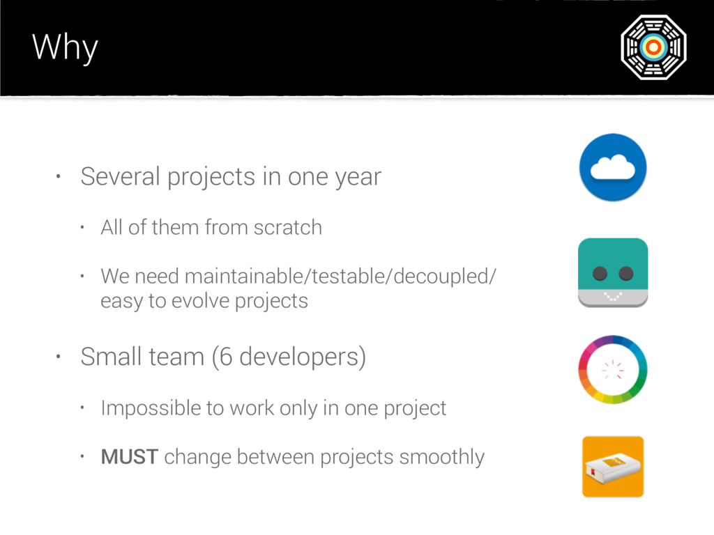 Why • Several projects in one year • All of the...