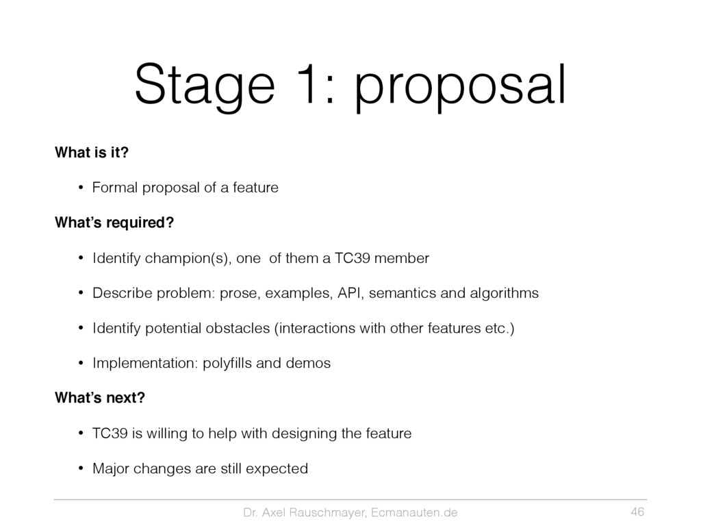 Dr. Axel Rauschmayer, Ecmanauten.de Stage 1: pr...