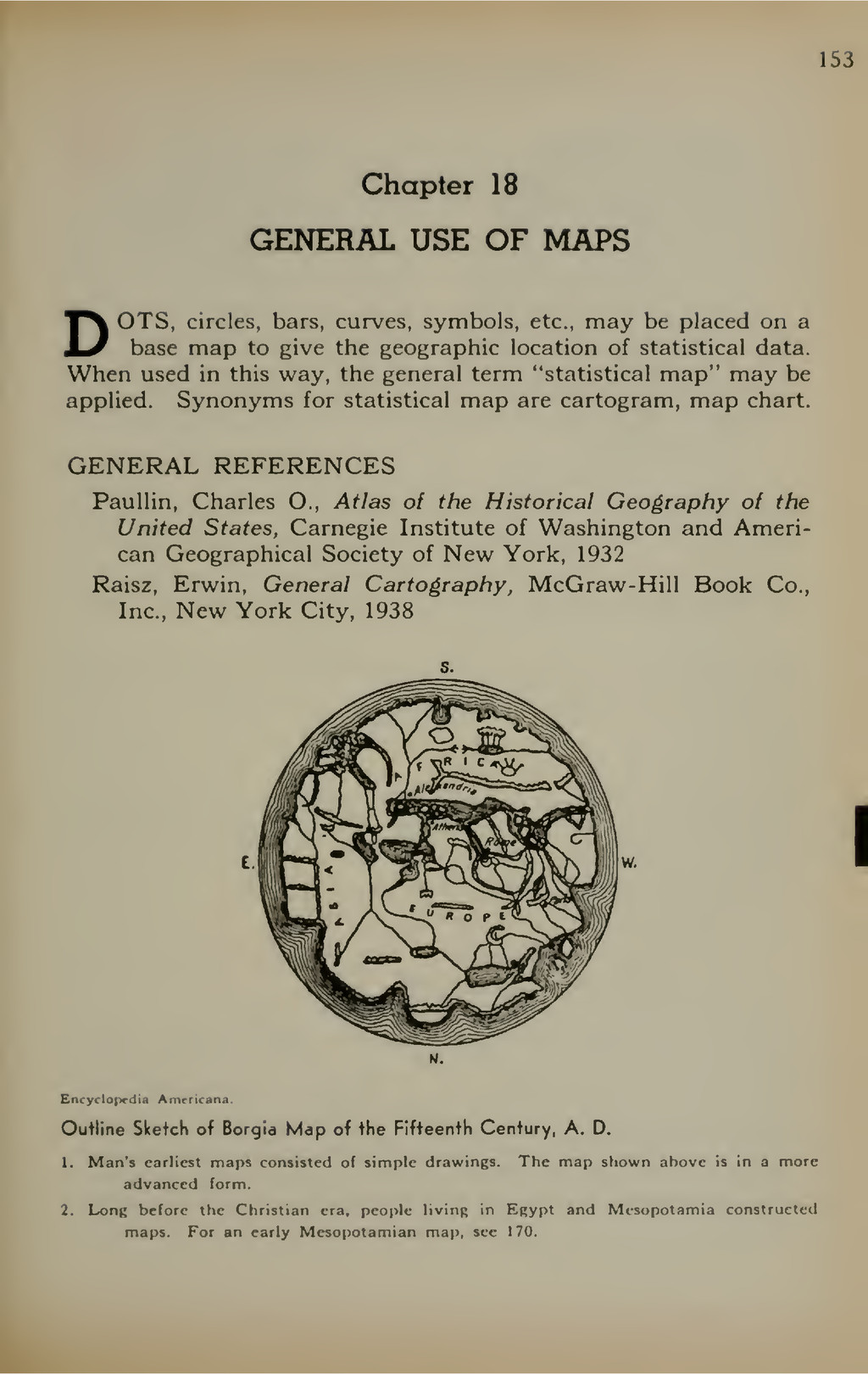 153 Chapter 18 GENERAL USE OF MAPS DOTS, circle...