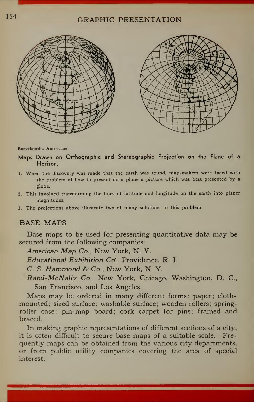 154 GRAPHIC PRESENTATION Encyclopedia Americana...