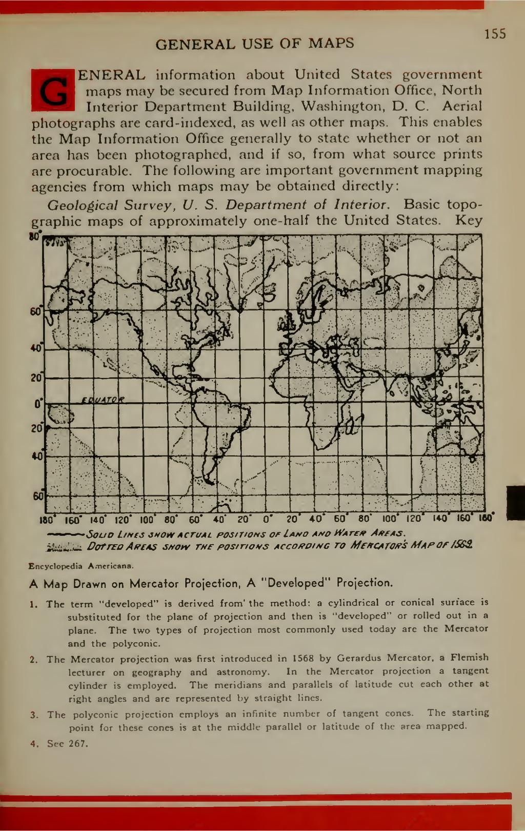 "GENERAL USE OF MAPS 155 """"^JjENERAL information..."