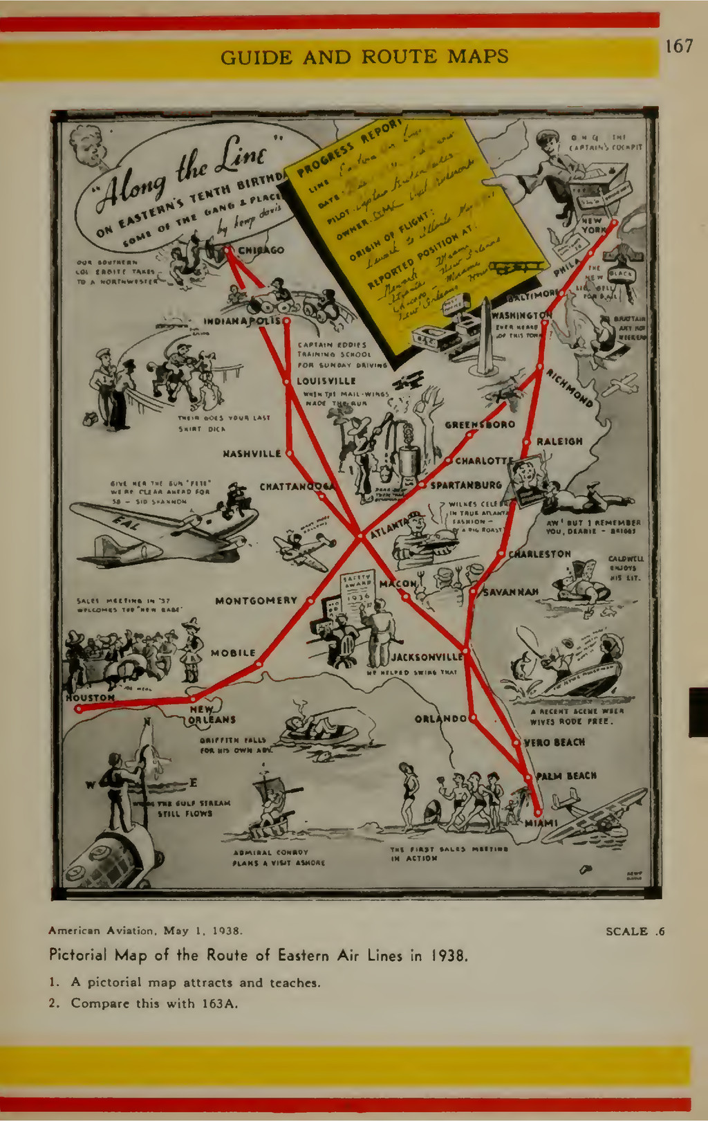 GUIDE AND ROUTE MAPS 167 I American Aviation. M...
