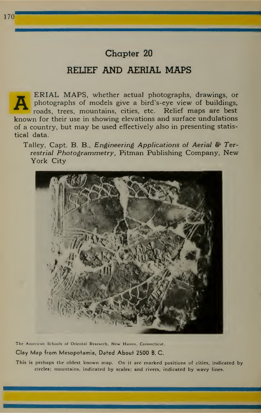 170 Chapter 20 RELIEF AND AERIAL MAPS AERIAL MA...