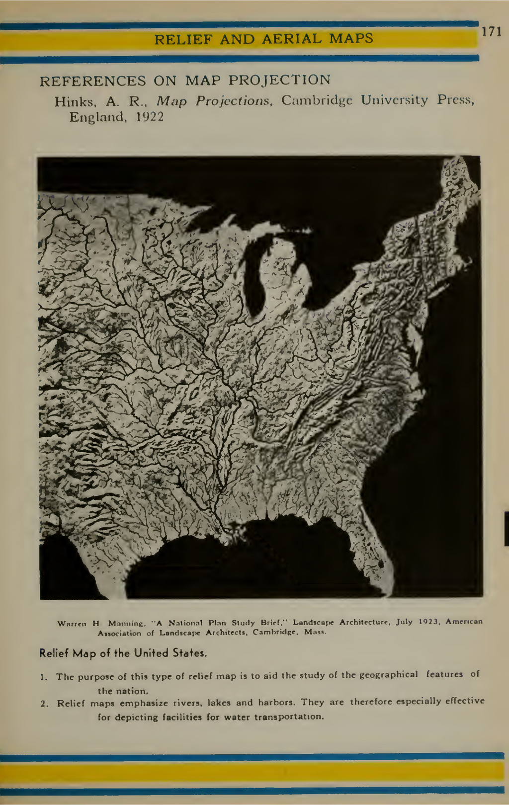 RELIEF AND AERIAL MAPS 171 REFERENCES ON MAP PR...