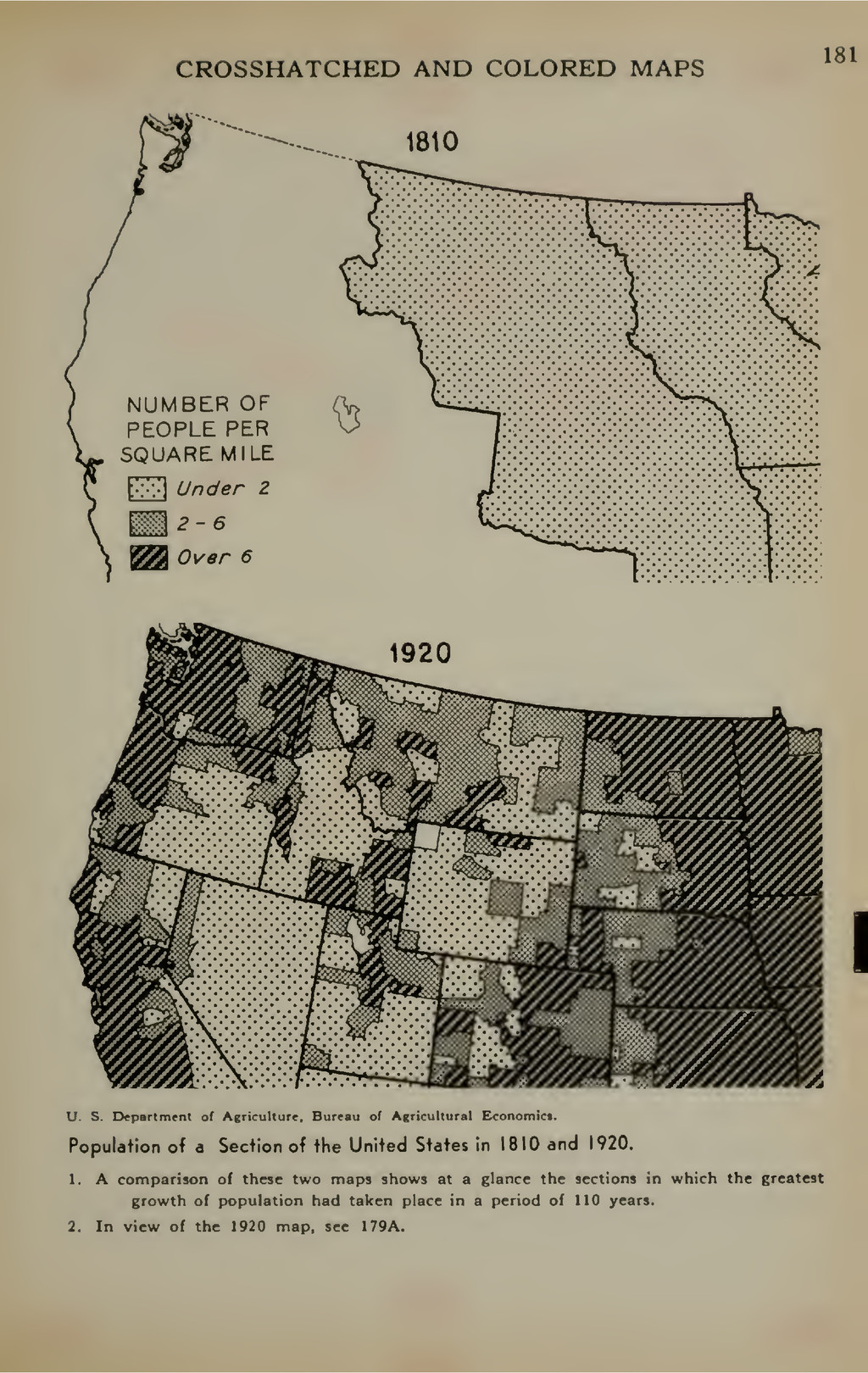 CROSSHATCHED AND COLORED MAPS 181 1810 NUMBER O...