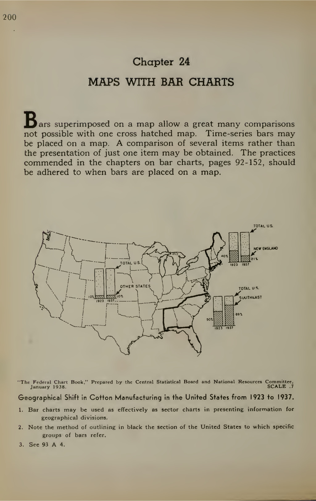 200 Chapter 24 MAPS WITH BAR CHARTS Bars superi...