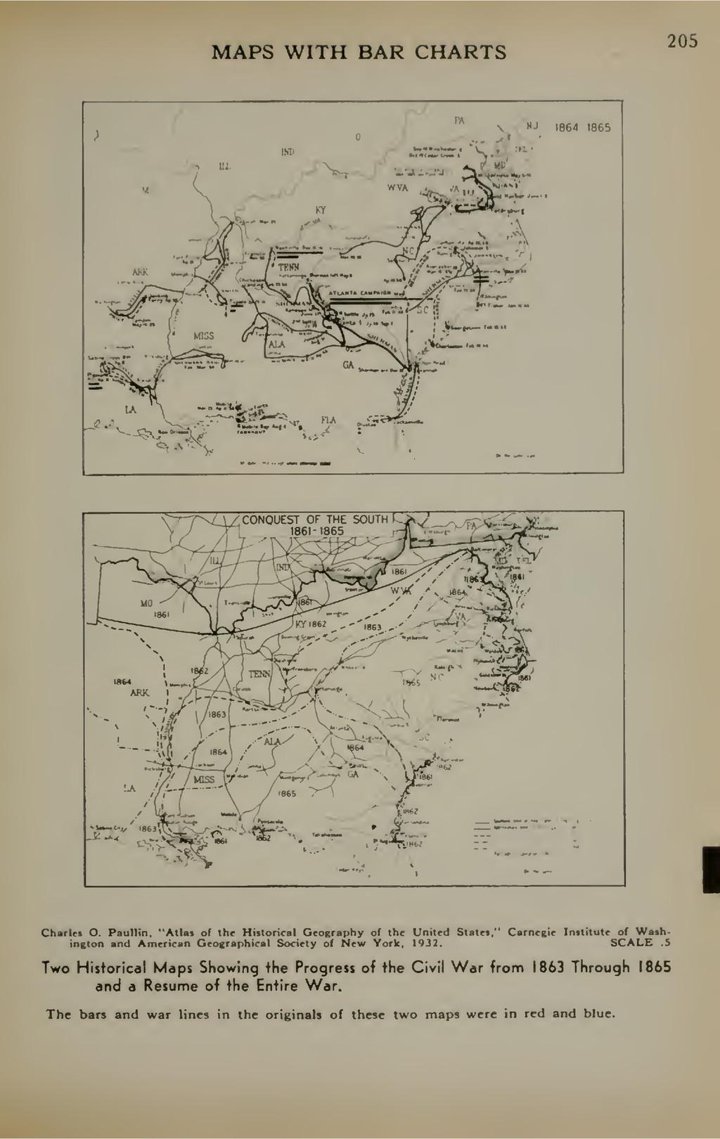 MAPS WITH BAR CHARTS 205 r^J N' ifl64 1865 •M«<...