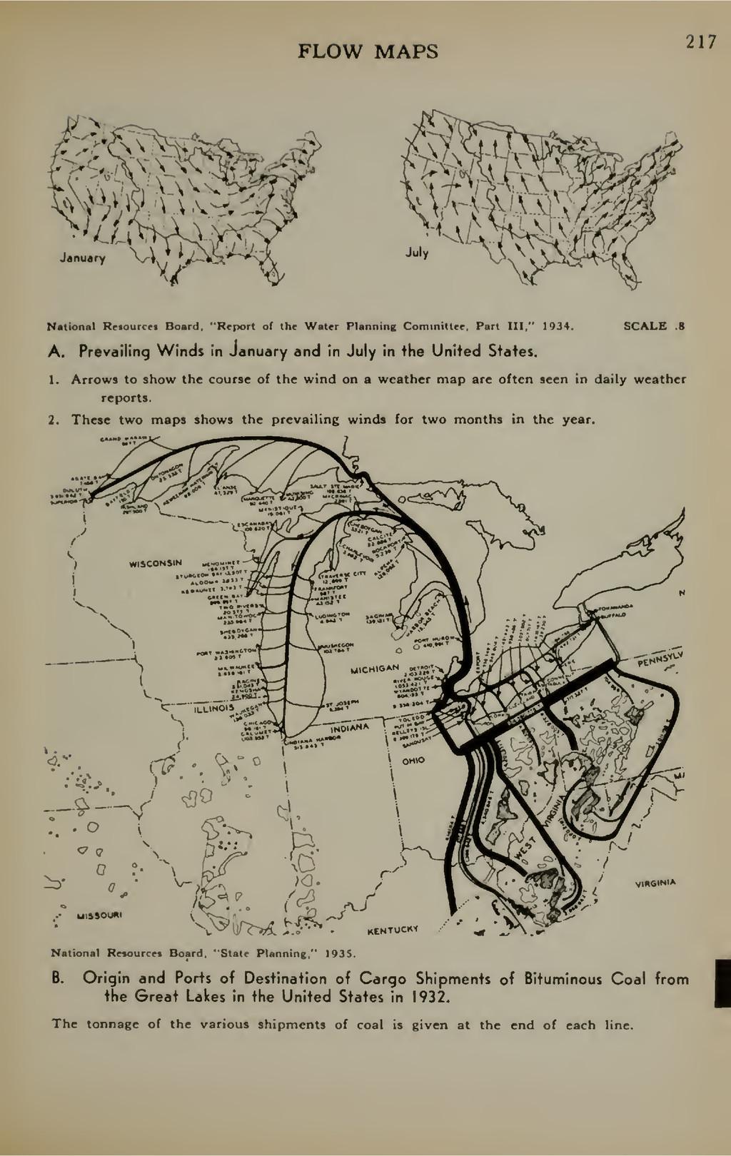 "FLOW MAPS 217 National Rftourcct Board. ""Rfport..."