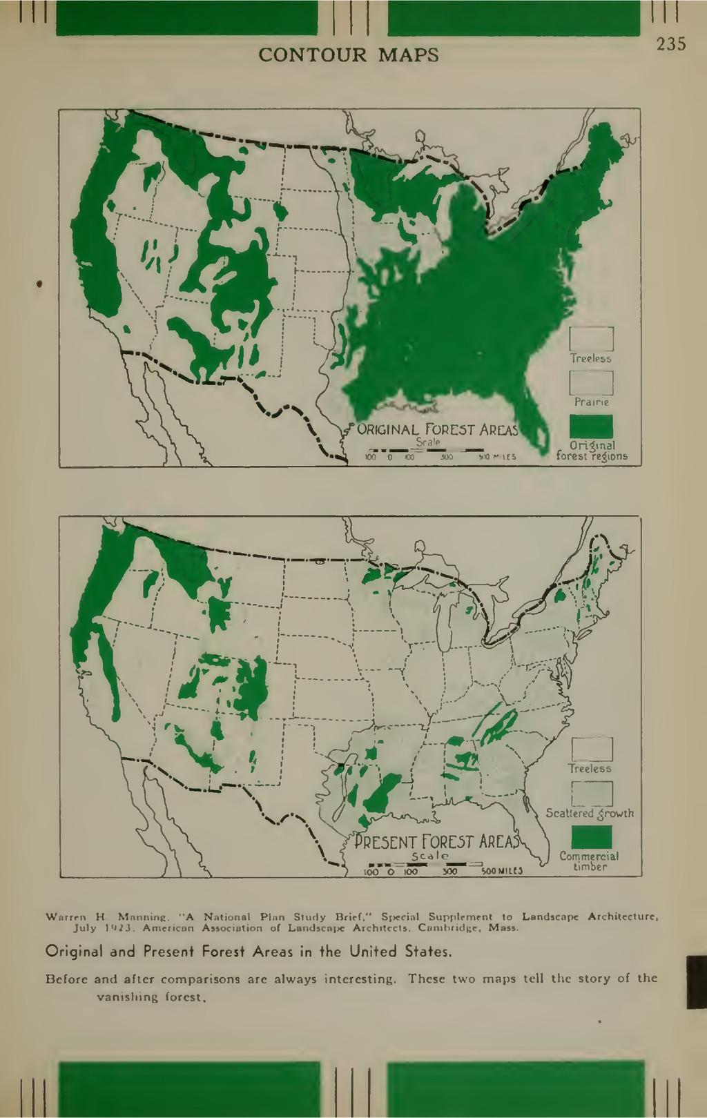 CONTOUR MAPS 235 Original forest regions V ^ t>...