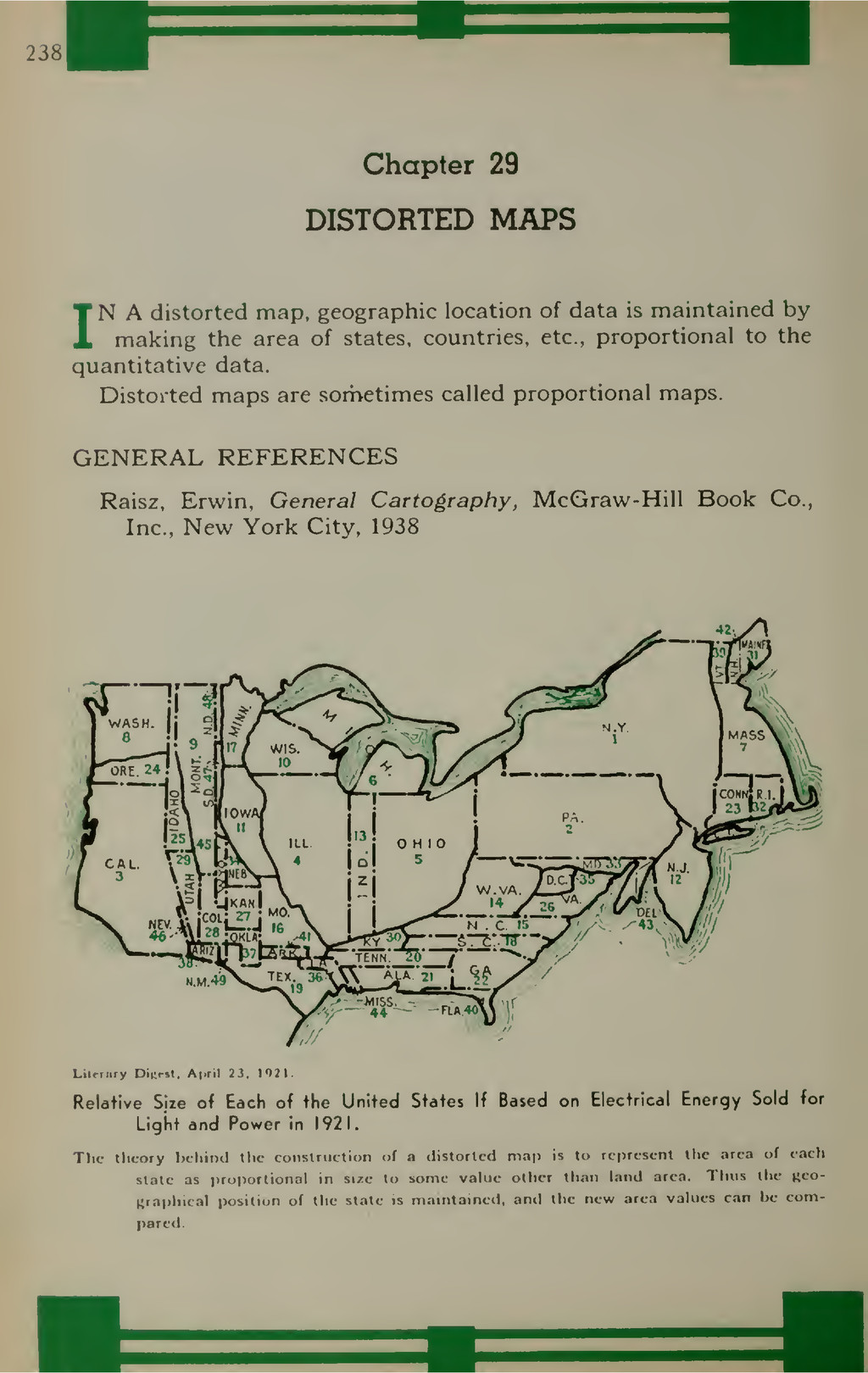 238 Chapter 29 DISTORTED MAPS IN A distorted ma...