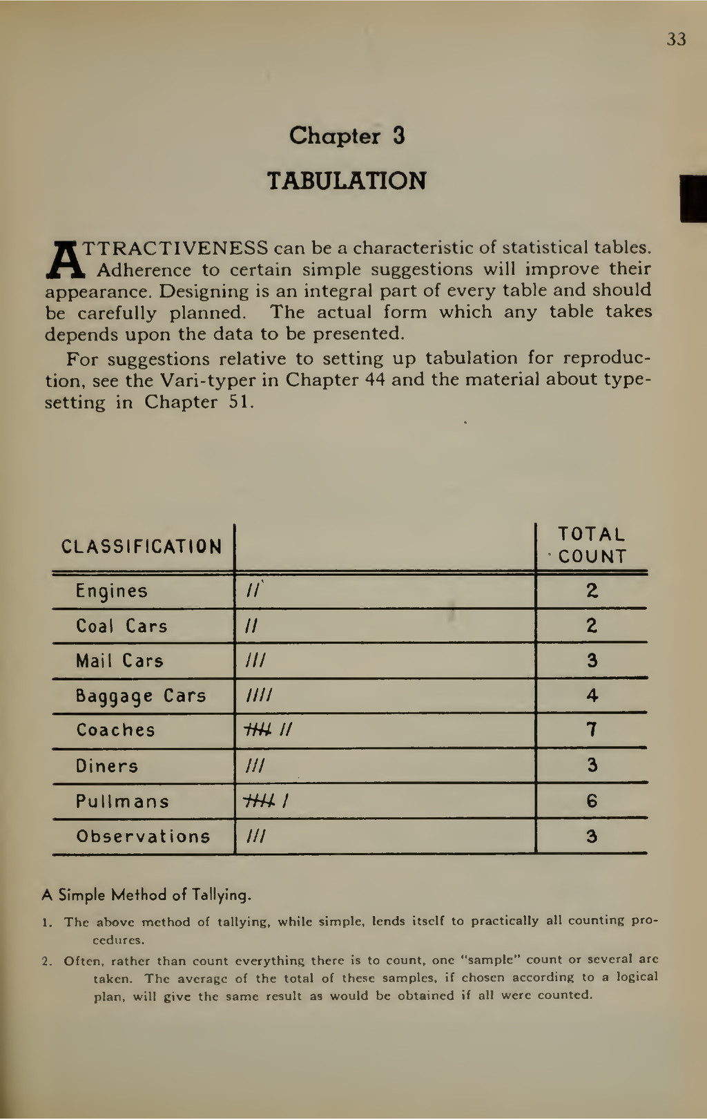 33 Chapter 3 TABULATION ATTRACTIVENESS can be a...