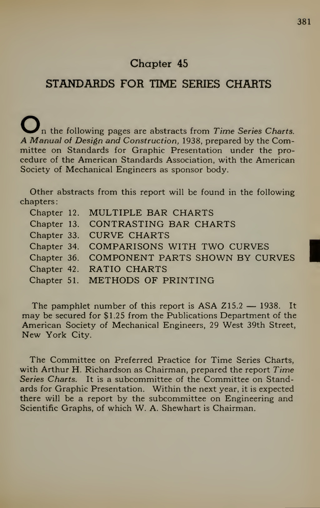 381 Chapter 45 STANDARDS FOR TIME SERIES CHARTS...