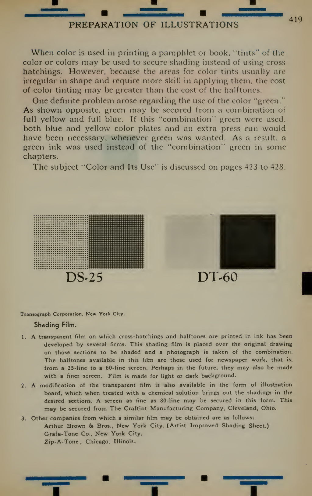 PREPARATION OF ILLUSTRATIONS 419 When color is ...