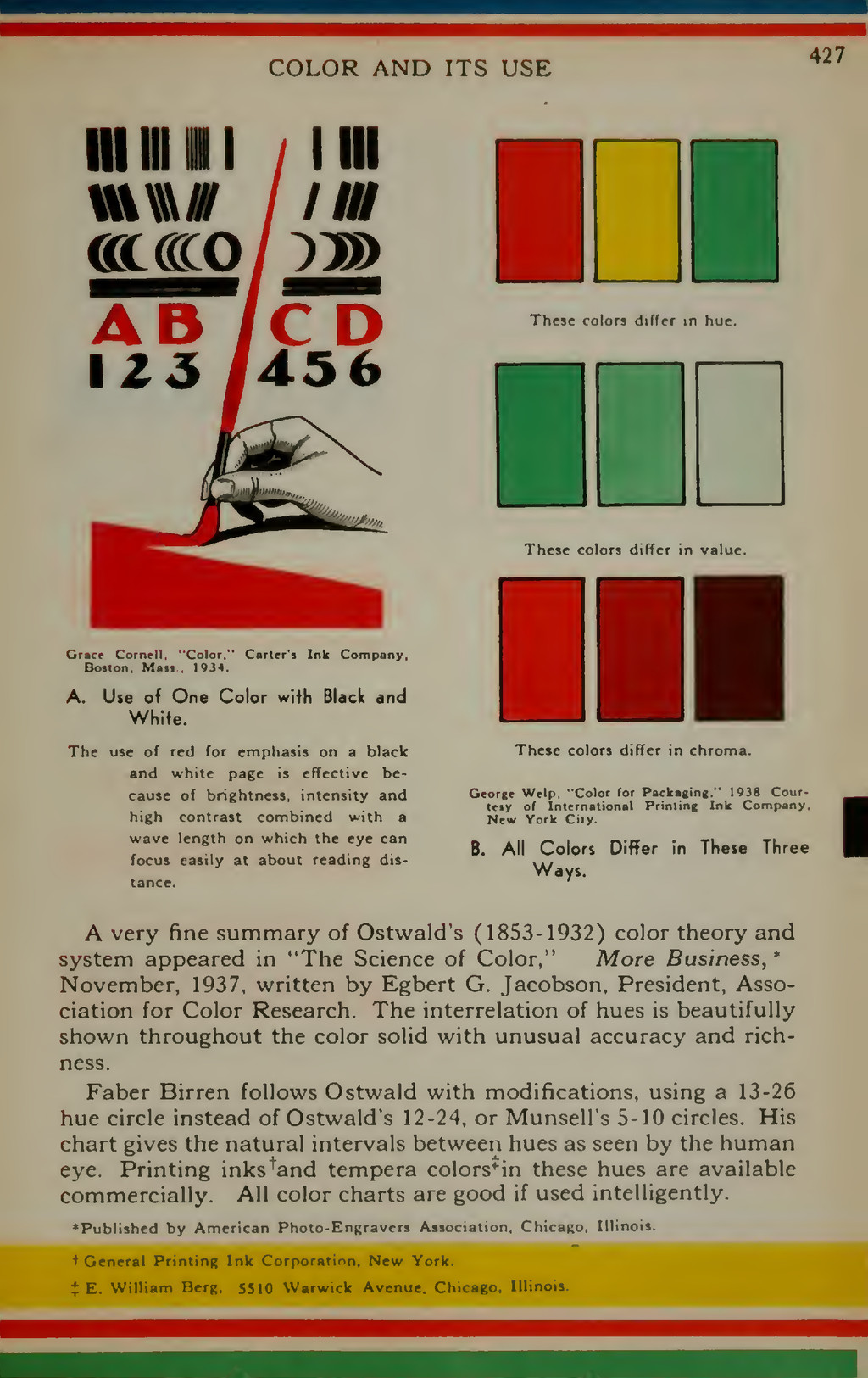 COLOR AND ITS USE 427 mill 11 /I III axceo / :>...