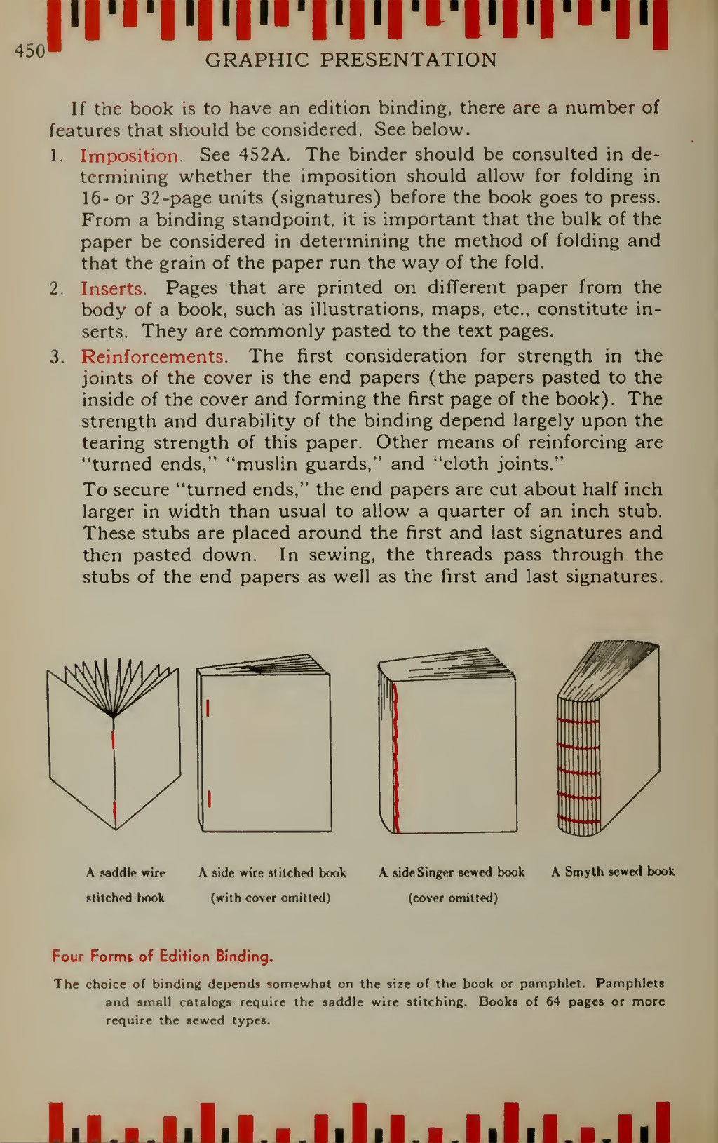 GRAPHIC PRESENTATION If the book is to have an ...