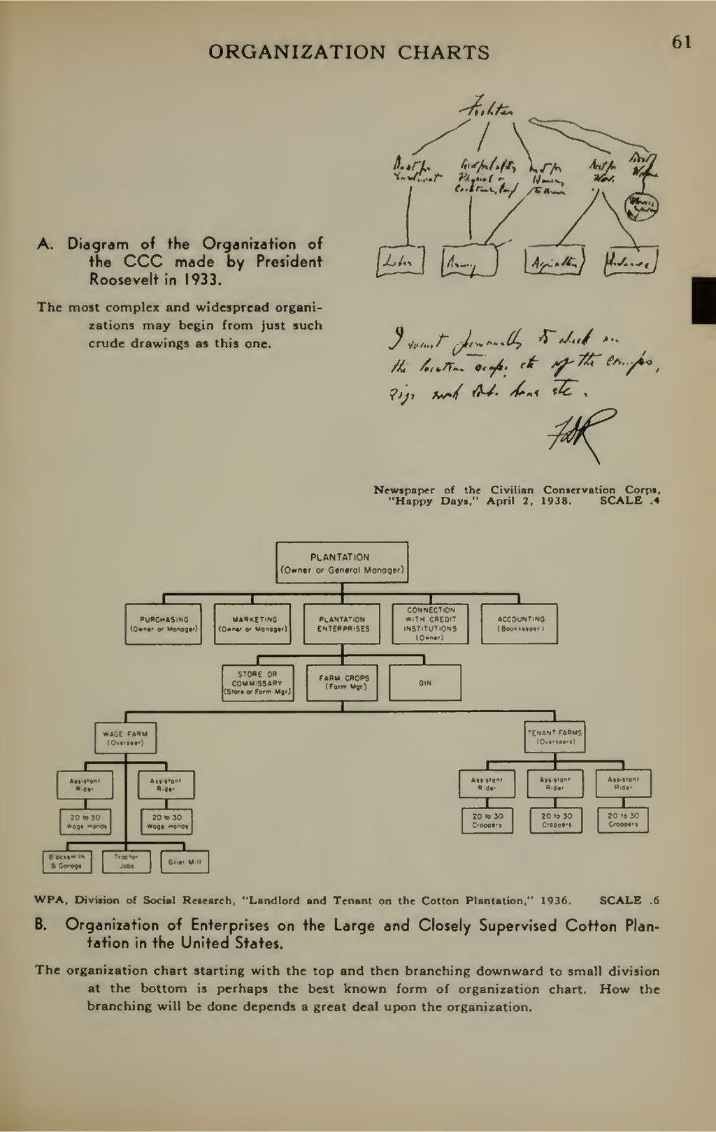 ORGANIZATION CHARTS 61 A. Diagram of the Organi...