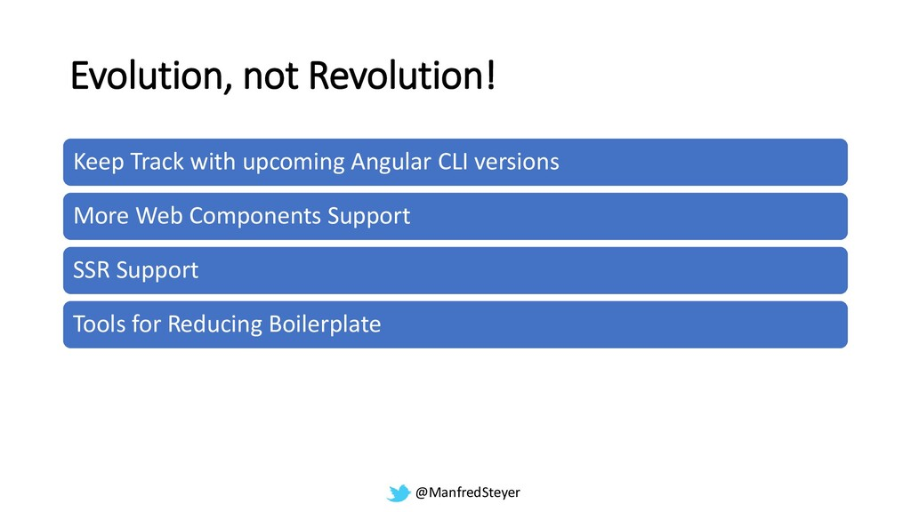 @ManfredSteyer Evolution, not Revolution! Keep ...