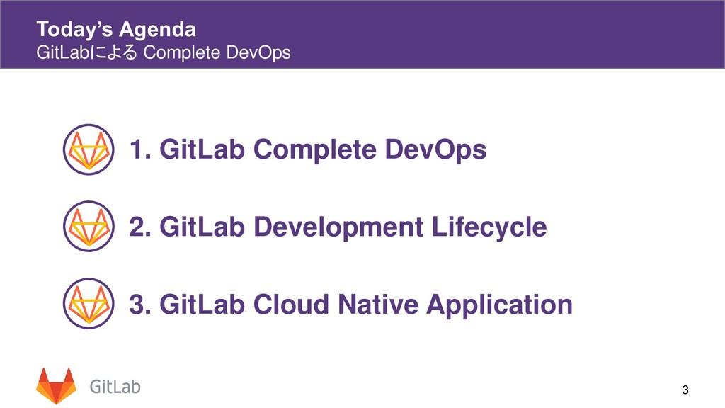 Today's Agenda GitLabによる Complete DevOps 3 1. G...