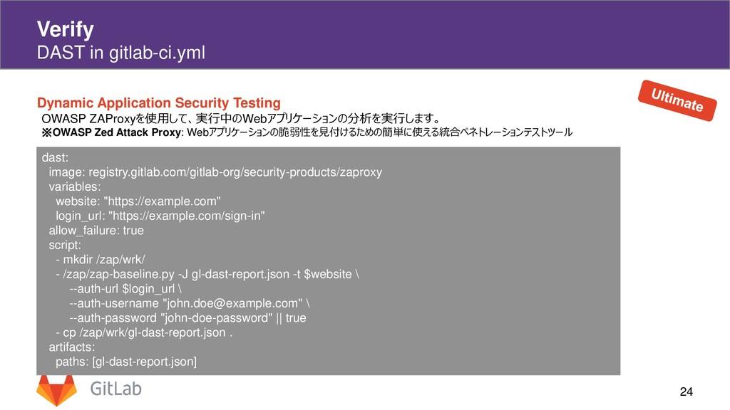 24 Verify DAST in gitlab-ci.yml Dynamic Applica...