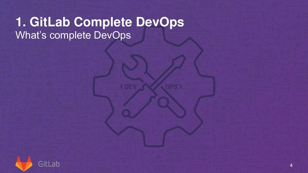 1. GitLab Complete DevOps What's complete DevOp...