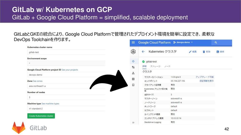 42 GitLab w/ Kubernetes on GCP GitLab + Google ...