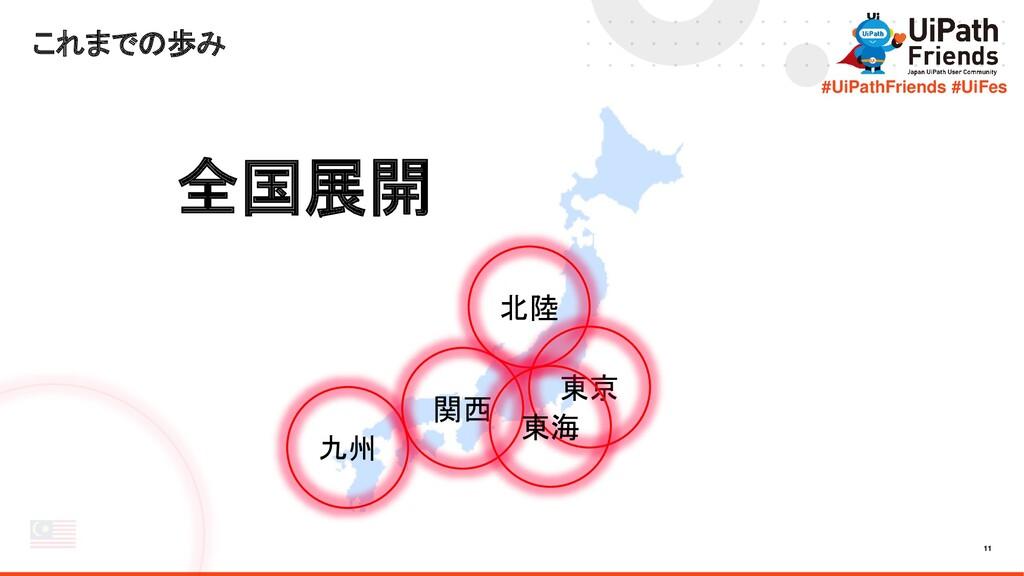 11 #UiPathFriends #UiFes これまでの歩み 全国展開 九州 関西 北陸 ...