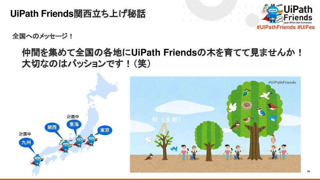 24 #UiPathFriends #UiFes UiPath Friends関西立ち上げ秘話...