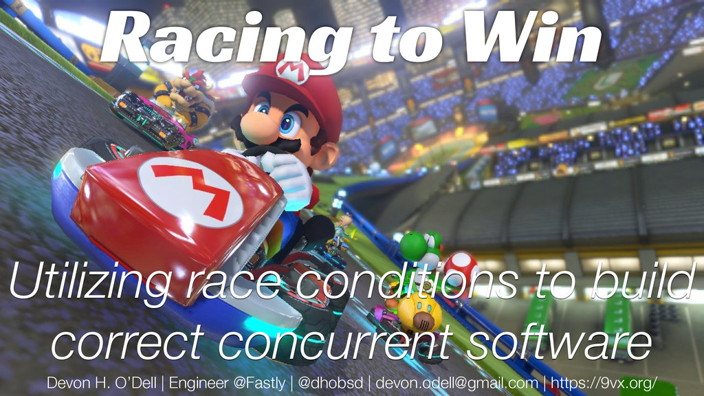 Utilizing race conditions to build correct conc...