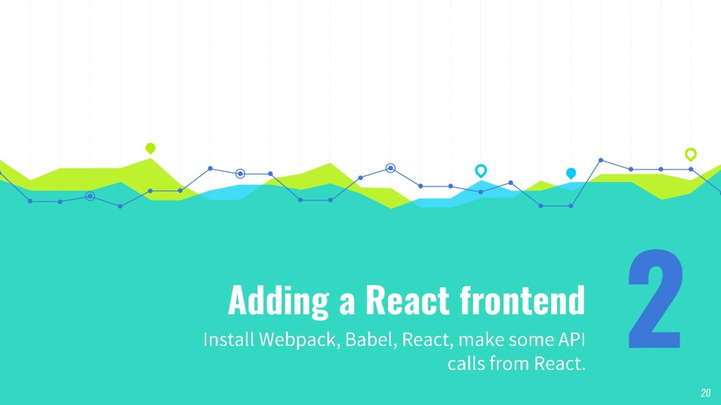 Adding a React frontend 2 20