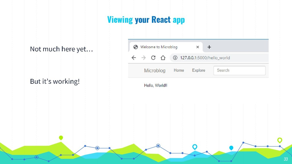 Viewing your React app 33