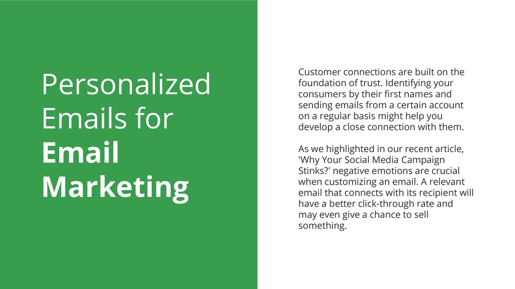 Personalized Emails for Email Marketing Custome...