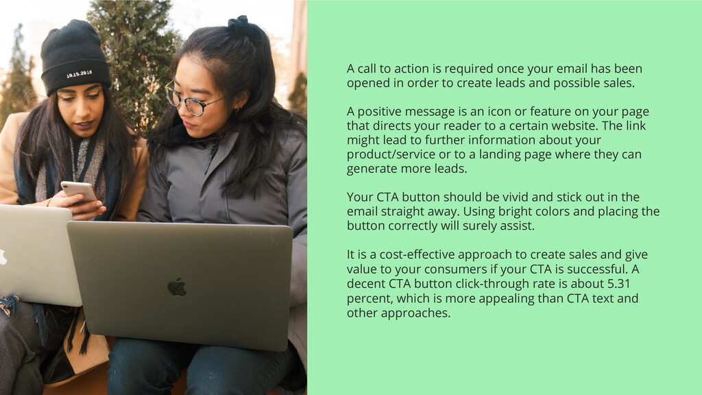 A call to action is required once your email ha...