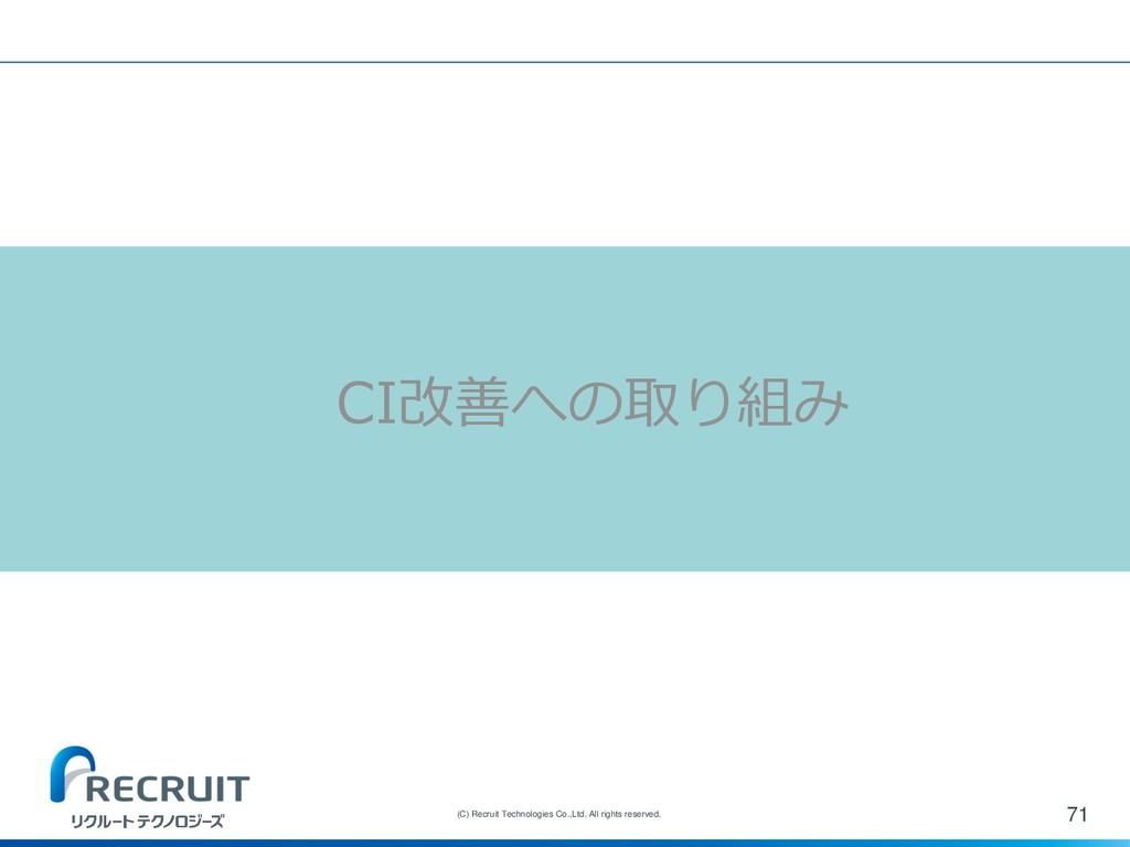 71 (C) Recruit Technologies Co.,Ltd. All rights...