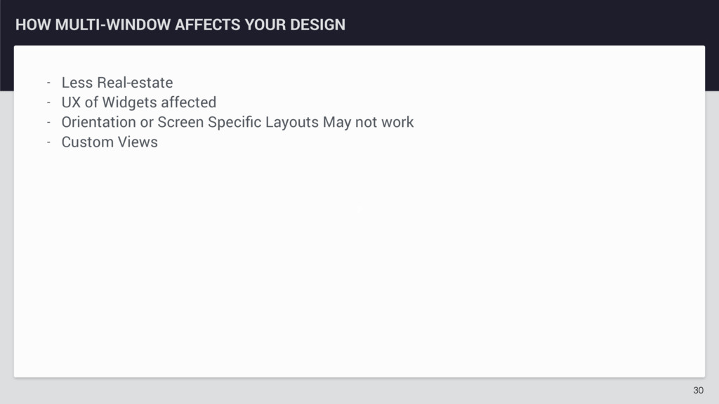 z HOW MULTI-WINDOW AFFECTS YOUR DESIGN 30 - Les...