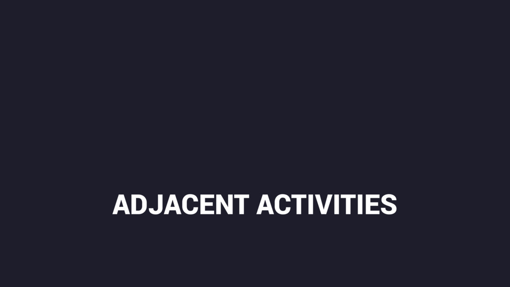ADJACENT ACTIVITIES