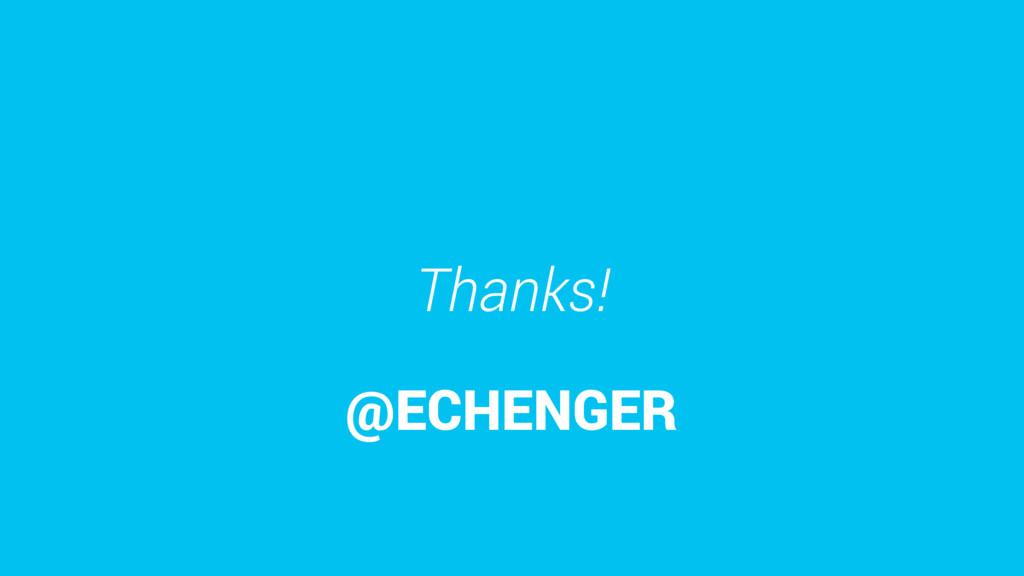 Thanks! @ECHENGER