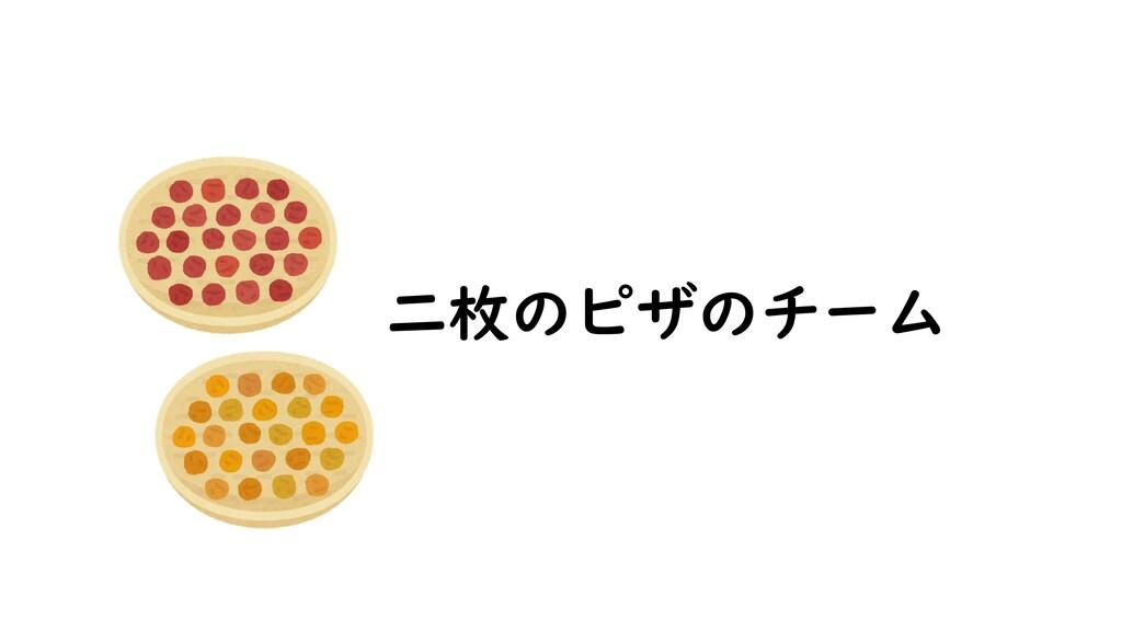 二枚のピザのチーム
