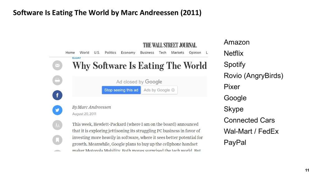 11 Software Is Eating The World by Marc Andrees...