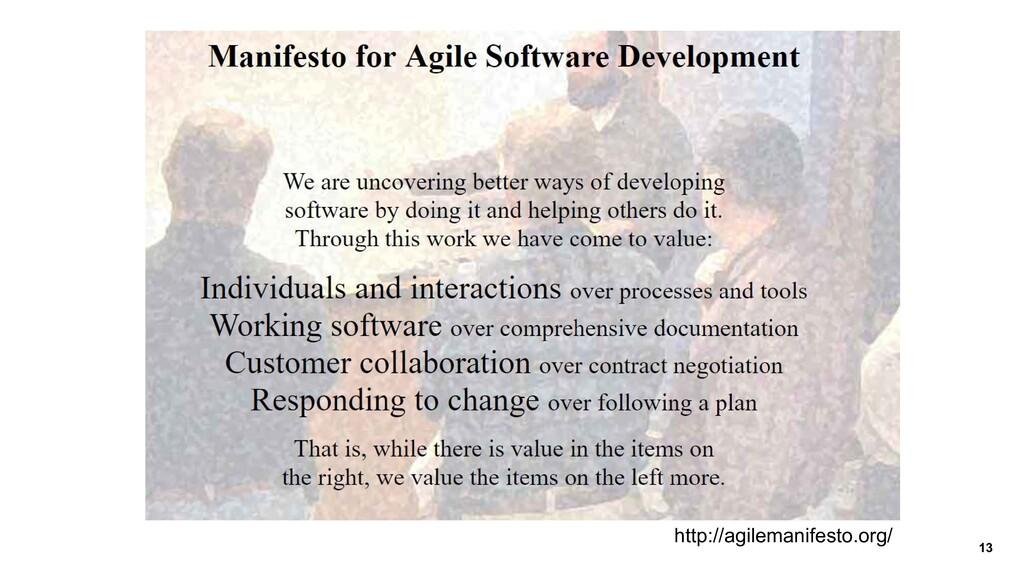 13 http://agilemanifesto.org/