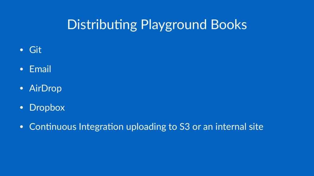 Distribu(ng Playground Books • Git • Email • Ai...