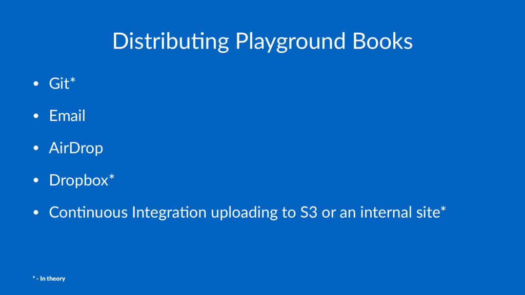Distribu(ng Playground Books • Git* • Email • A...