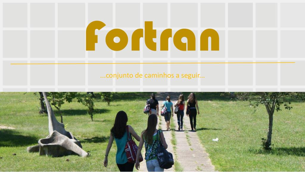 Fortran ...conjunto de caminhos a seguir...